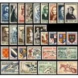 Stamps France 1953 complete year