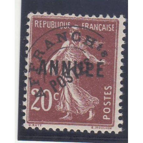 Timbres France Cours d instructions - Preos N° 54-CI 1 - 20c lilas-brun - **