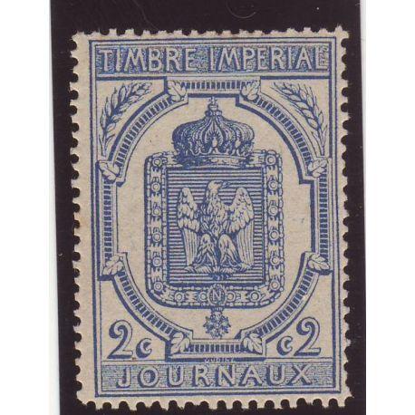 Timbre Journal N° 8 - 2c bleu - TB - **