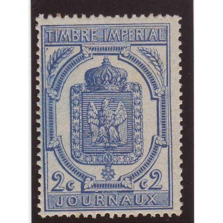 Timbre Journal France N° 8 - 2c bleu - TB - **