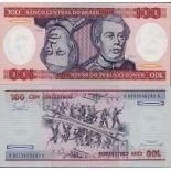 Banknoten Sammlung Brasilien Pick Nummer 198 - 100 Cruzeiro 1981