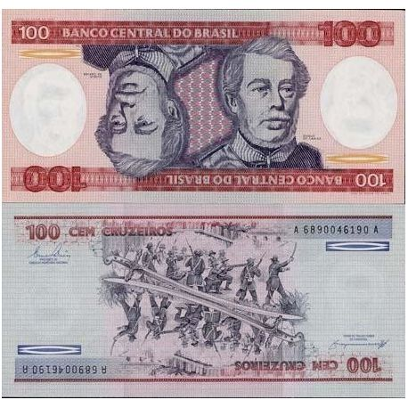 Billet de collection Bresil Pk N° 198 - 100 Cruzeiros