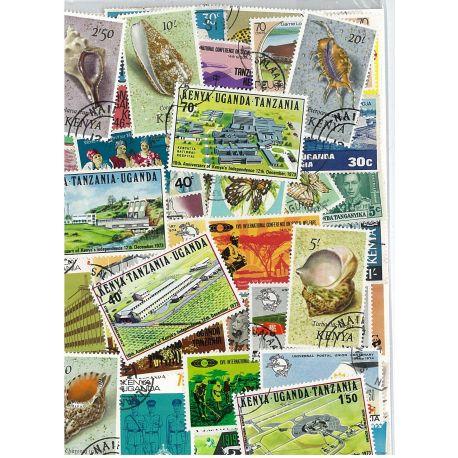 Kenia /Ouganda-25 verschiedene Briefmarken