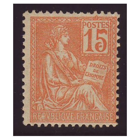France N° 117 - Variete - Point de couleur dans la bande du 5 -TB - *