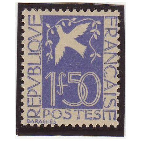 France N° 294 - 1f50 outremer - Colombre de la Paix - TB - **