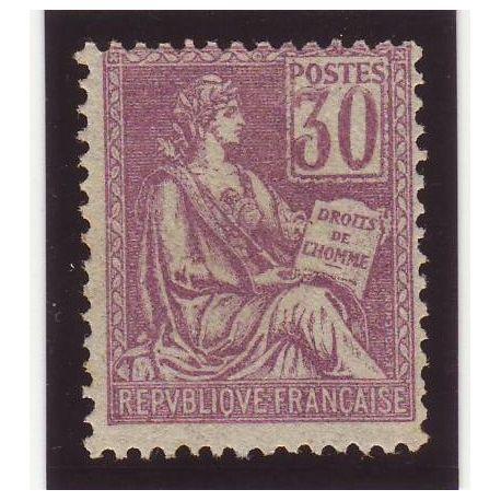 France N° 115 - 30c violet - Type Mouchon - TB - **