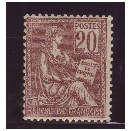 France N° 113 - 20c brun-lials - Type Mouchon - TB - **