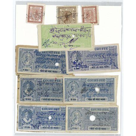 Kotah - 10 verschiedene Briefmarken