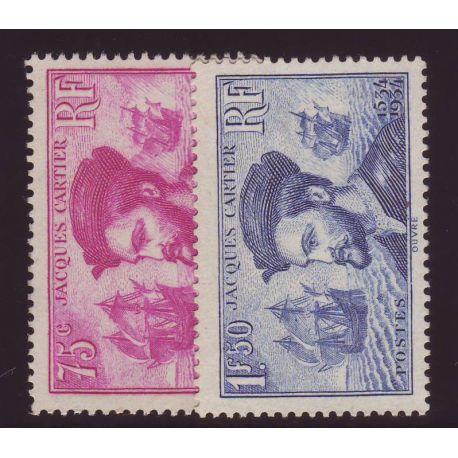 Timbre France N° 296 et N° 297 - La paire Cartier - TB - **