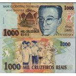 Billets de banque BRESIL Pk N° 240 - 1000 Cruzados