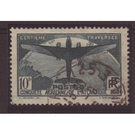 Timbre France N° 321 - Oblitéré - 10fr Atlantique Sud - Cote 150 E