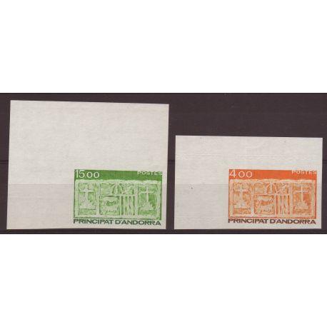 Timbre Andorre N° 346 et 347 - Non-dentelés - Cote : 27,50 E