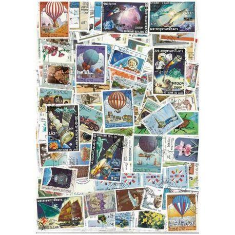 Laos - 50 verschiedene Briefmarken