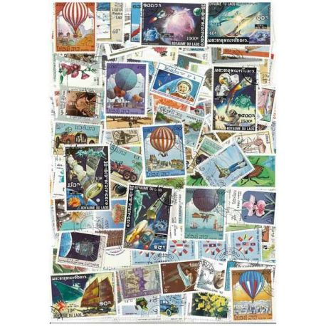 Laos - 50 different stamps