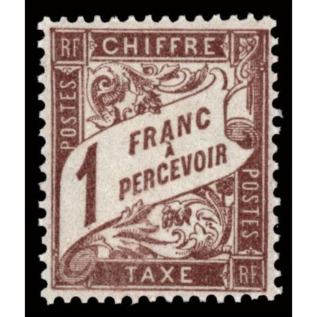 Timbre taxe France N° 40A neuf sans charnière
