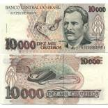 Collection of Banknote Brazil Pick number 233 - 10000 Cruzeiro 1990