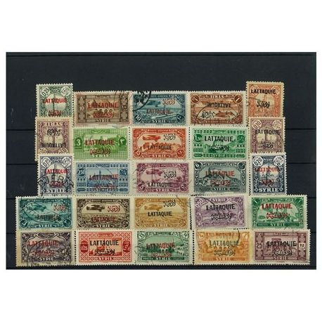 Latakia - 5 different stamps