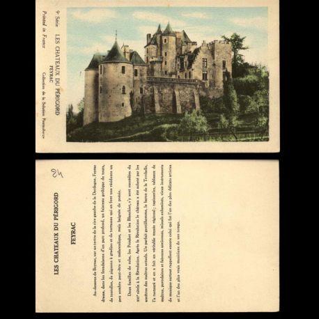 Carte postale 24 - Les chateaux du Périgord - Feyrac