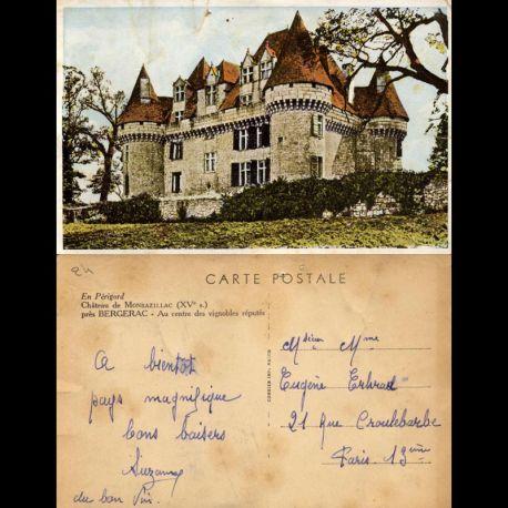 Carte postale 24 - Chateau de Monbazillac près Bergerac au centre des vignobles réputés