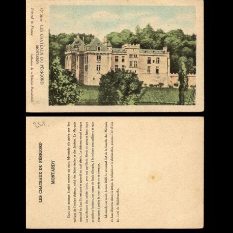 Carte postale 24 - Les chateaux du Périgrod - Montardy