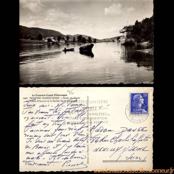 Carte postale 25 bassin du doubs table d 39 hercule et rocher de la casquette - Archives du doubs tables decennales ...