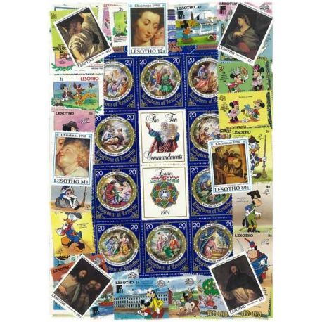 Lesotho - 25 timbres différents