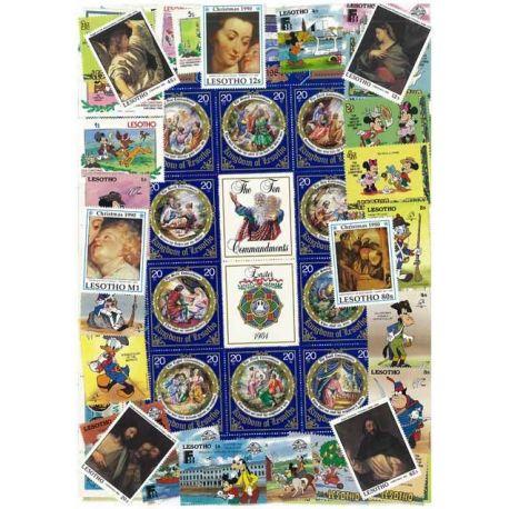 Collection de timbres Lesotho oblitérés