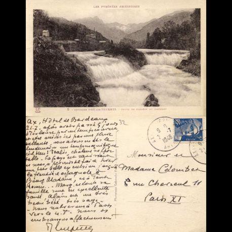Carte postale 32 - Environs d'Ax les Thermes - Chute de l'Ariège au Castelet
