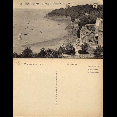 35 - Saint-Servan - La plage des Fours à Chaux