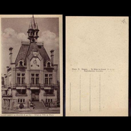 35 - Saint Meen le Grand - Hotel de ville et poste