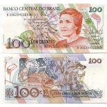 Colección Billetes Brasil Pick número 220 - 100 Cruzeiro 1989
