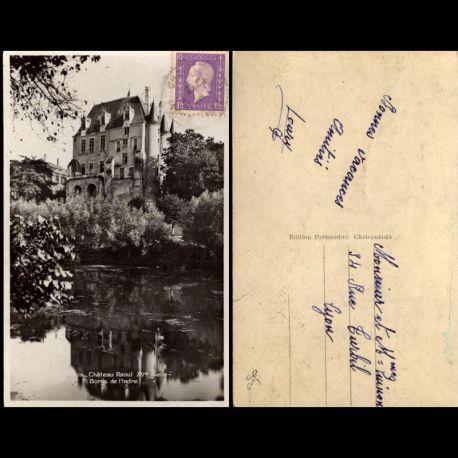 Carte postale 36 - Chateau Raoul - XVe siecle - Bords de l'Indre