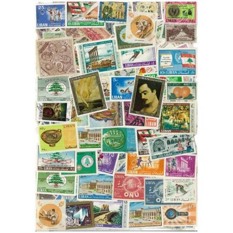 Libanon - 25 verschiedene Briefmarken