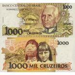 Schone Banknote Brasilien Pick Nummer 231 - 1000 Cruzeiro 1990