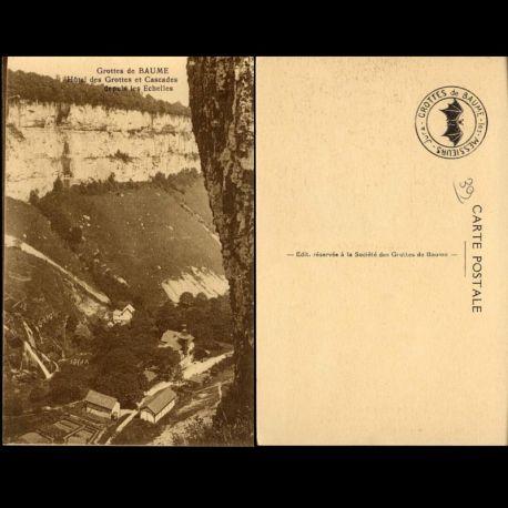 Carte postale 39 - Grottes de Baume - Hotel des Grottes et cascades