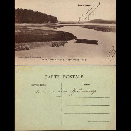 Carte postale 40 - Hossegor - Le Lac rive ouest