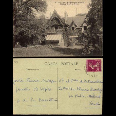 Carte postale 40 - Saint Avaugourd des Landes - Chateau de Bois Renard