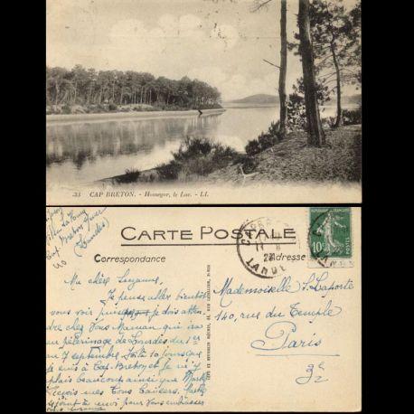 Carte postale 40 - Cap Breton - Hossegor - Le lac