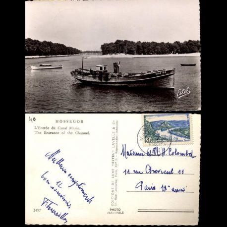 Carte postale 40 - Hossegor - L'entrée du Canal Marin - CPSM