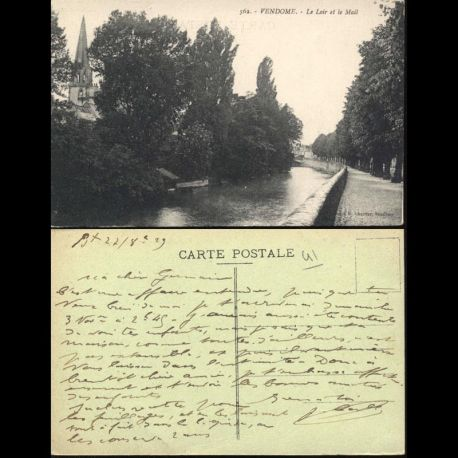 Carte postale 41 - Vendome - Le Loir et le Mail