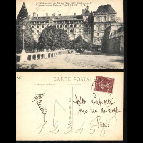 Carte postale 41 - Blois - Le chateau - Aile François 1er