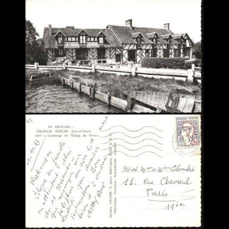 Carte postale 41 - Nouan le Fuzelier - L'auberge de l'étang de Villiers