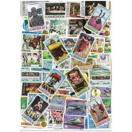 Liberia - 50 timbres différents