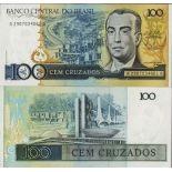 Schone Banknote Brasilien Pick Nummer 211 - 100 Cruzeiro 1986