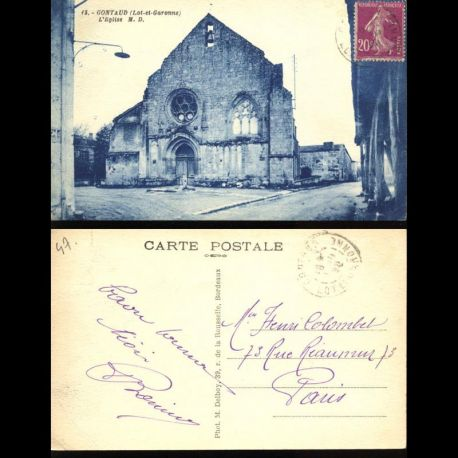 Carte postale 47 - Gontaud - L'Eglise