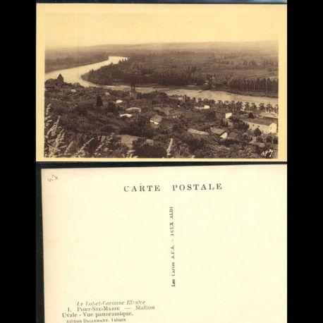 Carte postale 47 - Port Sainte Marie - Station Uvale - Vue panoramique