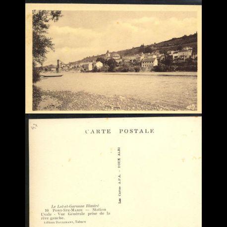 Carte postale 47 - Port Sainte Marie - Vue générale prise de la rive gauche