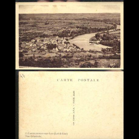 Carte postale 47 - Castelmoron sur Lot - Vue générale