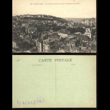 50 - Granville - Vue générale prise de la Tour de l'eglise Saint Paul