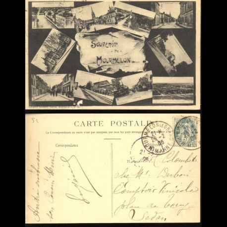 Carte postale 51 - Souvenir de Mourmelon - Carte multivue